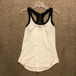 Express black and white tank